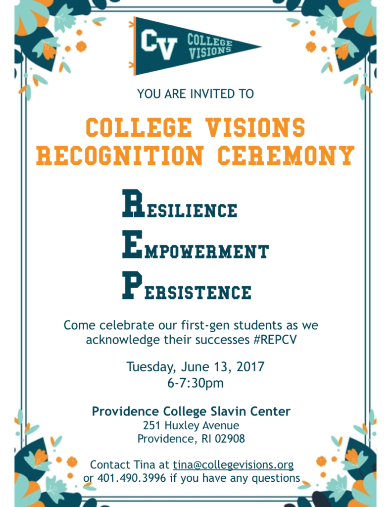 JOIN US FOR OUR RECOGNITION CEREMONY!!