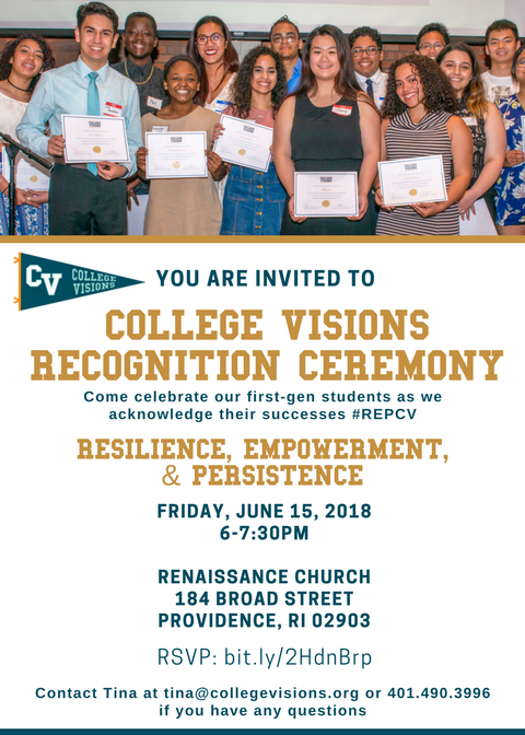 Join us for College Visions Recognition Ceremony!